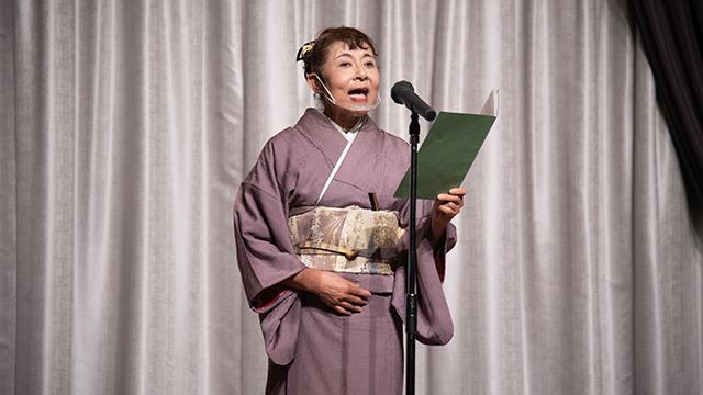和歌山グループ声50周年祝賀会での朗読